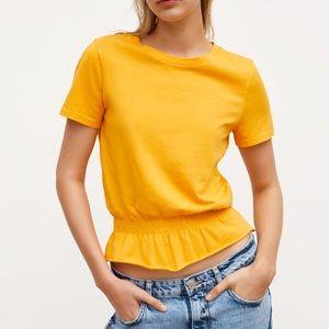 NWT Zara Stretch Top in Mustard.